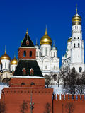 Moscow Kremlin and Churches Stock Image