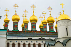 Moscow Kremlin churches. Color photo. Royalty Free Stock Image