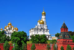 Moscow Kremlin churches Royalty Free Stock Photos