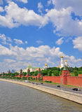 Moscow Kremlin and city centre Royalty Free Stock Image