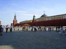 the Moscow Kremlin. Clear sky and a dazzling cloud Royalty Free Stock Photo