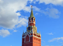 Moscow Kremlin clock on Spasskaya tower Stock Photography
