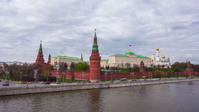 Moscow Kremlin on a cloudy day stock video footage