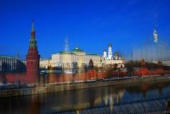 Moscow Kremlin. Color collage photo. Stock Photos