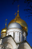 Moscow Kremlin. Color photo. Archangels church Stock Photos