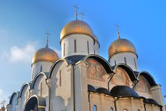 Moscow Kremlin. Color photo. Dormition cathedral Stock Photography