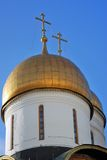 Moscow Kremlin. Color photo. Dormition cathedral Royalty Free Stock Photography