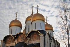 Moscow Kremlin. Color photo. Dormition church Stock Photos