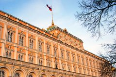 Moscow Kremlin. Color photo. Grand Kremlin Palace Stock Photo