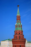 Moscow Kremlin. Color photo. Tower and Grand Kremlin Palace. Stock Image