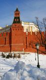 Moscow Kremlin. Color photo. Winter scene. Royalty Free Stock Photography