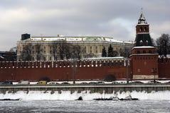Moscow Kremlin. Color winter photo. Stock Photos