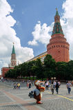 Moscow Kremlin the Corner Arsenal Tower Royalty Free Stock Photos
