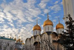Moscow Kremlin. Dormition cathedral. Color photo. Royalty Free Stock Image