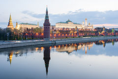 The Moscow Kremlin in the early morning Royalty Free Stock Photography