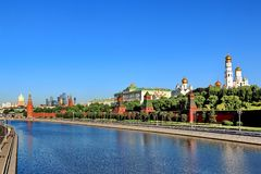 Moscow Kremlin in the early morning in spring stock photography