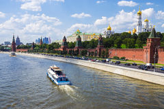 Moscow (Kremlin embankment and the Kremlin), Russia Stock Photo