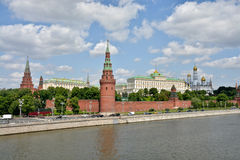 Moscow Kremlin and embankment of the Moscow river. Royalty Free Stock Image