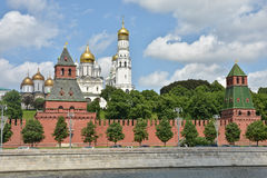 Moscow Kremlin and embankment of the Moscow river. Royalty Free Stock Photos