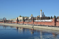 Moscow Kremlin and embankment of the Moscow river. Stock Photography
