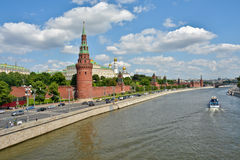Moscow Kremlin and embankment of the Moscow river. Stock Photo