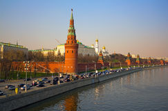 Moscow Kremlin. Embankment of the river Stock Photos