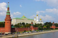 Moscow kremlin embankment Stock Image