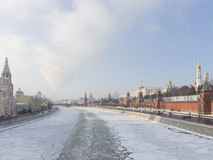 Moscow, Kremlin Embankment in winter Stock Image