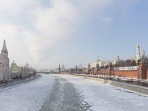 Moscow, Kremlin Embankment in winter Stock Image