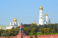 The Moscow Kremlin The ensemble of the Kremlin bell towers Stock Photos