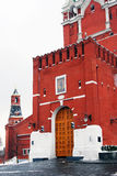 Moscow Kremlin. Entrance gates of Spasskaya Tower. Stock Images