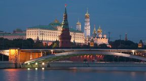 Moscow Kremlin in the evening Stock Photos