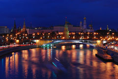 The Moscow Kremlin. Moscow Kremlin in the evening Stock Photography