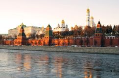 Moscow Kremlin. Evening sky. Color photo. Stock Photo