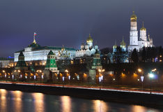 Moscow Kremlin evening Royalty Free Stock Images