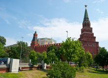 The Moscow Kremlin from the garden Royalty Free Stock Images
