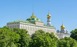 Moscow Kremlin with Grand Kremlin palace, Russia royalty free stock images
