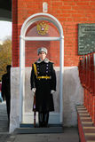 Moscow Kremlin. Guard at post at the entrance to the Trinity Tower. Stock Photography