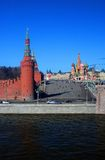 Moscow Kremlin, GUM, Saint Basils Church. Royalty Free Stock Photo