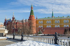 The Moscow Kremlin and the Historical Museum, Russia Stock Photos