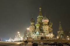 Moscow Kremlin Intercession cathedral St Basils Stock Photos
