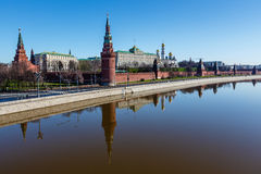 Moscow Kremlin and Ivan the Great Bell Tower Royalty Free Stock Image
