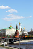 Moscow,Kremlin. Kind on Moscow Kremlin, river Moscow, Large bridge Stock Photo