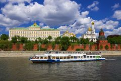 Moscow Kremlin and Kremlin embankment, Moscow, Russia Stock Photos
