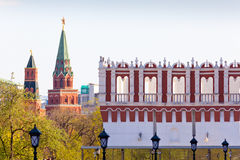 Moscow Kremlin and Kutafya tower Royalty Free Stock Photography