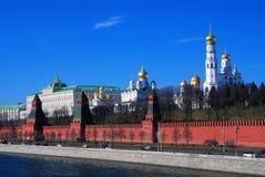 Moscow Kremlin landmarks. Blue sky background. Stock Photography