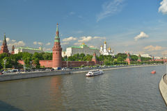 The Moscow Kremlin in the late spring. Stock Photos
