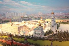 Moscow Kremlin model in Radisson Ukraine hotel royalty free stock photo