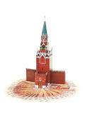 Moscow Kremlin on the money Stock Image