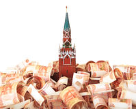Moscow Kremlin on the money Royalty Free Stock Image